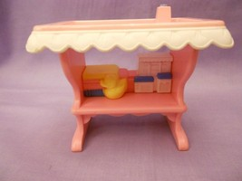 Fisher Price Loving Family Dollhouse Pink & White Changing Table 1994 - $3.91