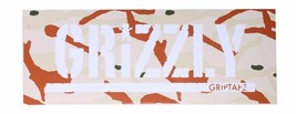 "Grizzly Griptape Tan Branch Camo 8"" Sticker Skateboard Decal NEW"