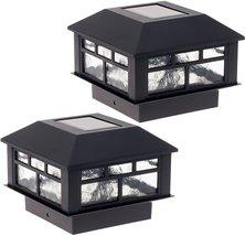 GreenLighting 2 Pack Modern Design Solar Powered 5 Lumen Post Cap Light ... - $28.79