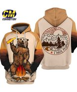 """Men's 3D Hoodie """" I hate people """" Dream Bear Camping  gift for friends - $51.99"""