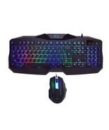 LED Gaming Keyboard Mouse Combo Bundle Computer Accessories 7 Colors Bac... - £29.98 GBP