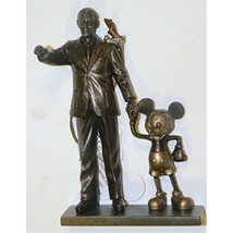 Disney World WDW Park 2015 Partners Statue Mickey Walt Holding Hands Chr... - $35.65