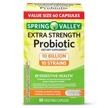Spring Valley Extra Strength Probiotic Vegetable Capsules, 60 Capsules. - $31.67