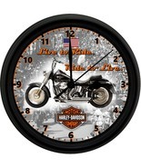 HARLEY DAVIDSON 8in. Unique Homemade Wall Clock w/ Battery Included - $23.97