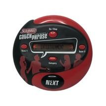 Scrabble Catch Phrase 2004 Hasbro Handheld Electronic Game Red Black - $19.99