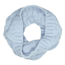 Bench Light Blue Levigny B Cable Knit Snood Neck Gaiter Scarf Wrap BLVA0320B NWT image 2