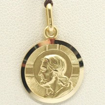 SOLID 18K YELLOW GOLD JESUS CHRIST REDEEMER 19 MM MEDAL, PENDANT, MADE IN ITALY image 2