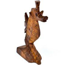 Hand Carved Ironwood Wood Folk Art Ocean Marine Life Seahorse Miniature Figurine image 4