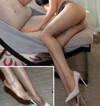 Ladies 1 Denier High Gloss Shiny Pantyhose Glossy Tights Nylon Stockings Hosiery - $6.18