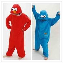 New Adulte Cookie Monster Costume Adult Pajamas Pyjamas Onesie Sleepwear!!! - $36.99