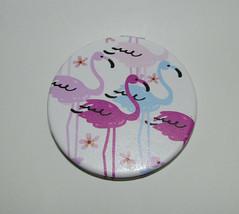 Flamingo Compact New Purse Size Flamingos Regular & Magnify - $13.57