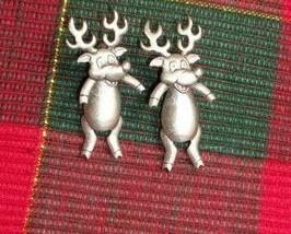 PEWTER REINDEER EARRINGS - Very Cute, Nice Items!! - $10.00