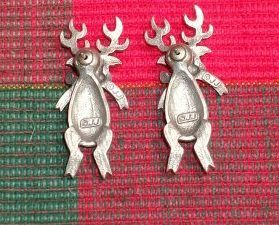 PEWTER REINDEER EARRINGS - Very Cute, Nice Items!!