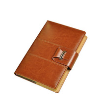 Thick Business Blank Journal - Brown Leather Bound Notebooks - Wide Ruled - $20.79