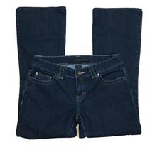 Calvin Klein Jeans Womens Sz 6 Low Rise Bootcut Dark Wash Blue Denim - $18.39