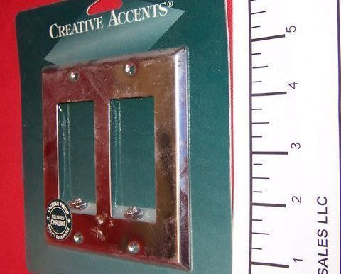2 Gang Creative Accents Polished Chrome Wall Plate 2 Rocker.GFCI 9CS127