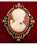 Vintage Avon Cameo Locket Pin Brooch - $24.99