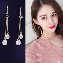 New Fashion Women Long Zircon Earrings Drop Hook Temperament Crystal - $19.66 CAD+
