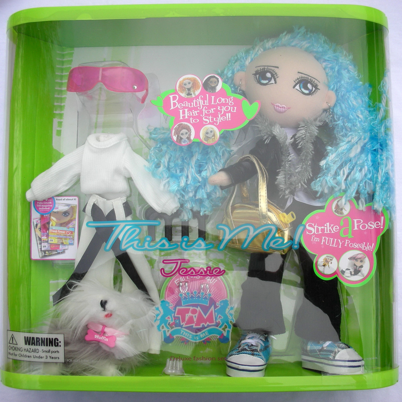 T.I.M. This is Me - Super Doll - Jessie Deluxe Doll Set, 2 Outfits Clothes and A