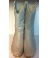 Vintage Pre-Owned Off White Mid-Calf Boots ~ UK 5 ~ US 7.5 ~ EU 38 - $45.00