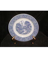 "Homer Laughlin 7.5"" Blue and White Salad Plate L-81 USA - $1.00"