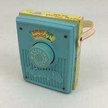 Small World Pocket Radio Music Box Wind-up Toy #746 Fisher Price Vintage... - $22.72