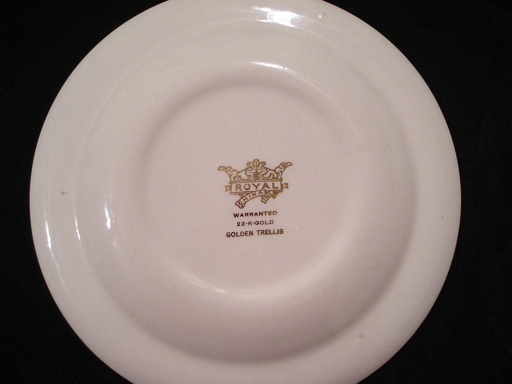 Royal China 22-K-Gold Golden Trellis Salad Plate