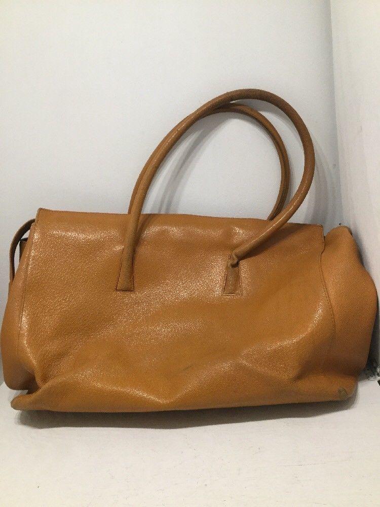 Neiman Marcus Collection Camel Tan Leather Vintage Briefcase Attache