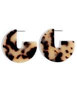 Artilady Acrylic Resin Hoop Earrings - Tortoise Shell Earrings for Women... - $9.26
