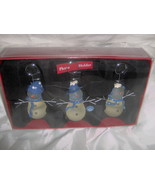 Three Snowmen Photo Holders New In Box By St. N... - $16.99