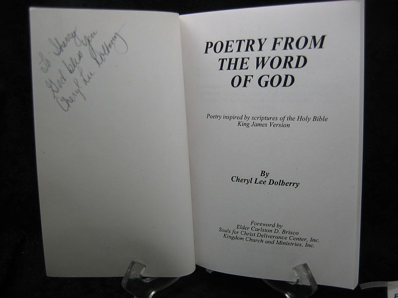 Poetry From the Word of God by Cheryl Lee Dolberry Signed