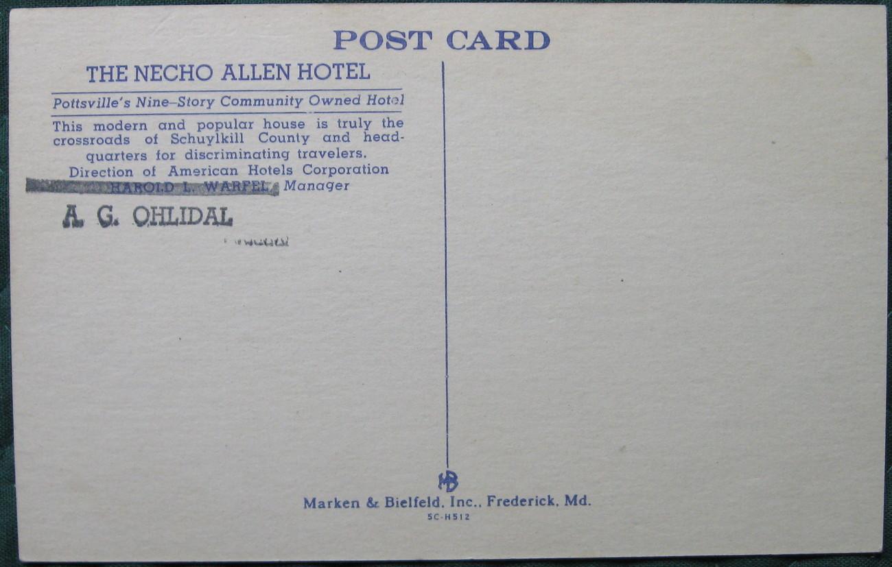 Marken & Bielfeld, Full Bleed, Linen postcard, The Necho All