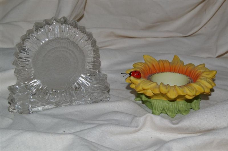 PartyLite Sunflower Tealight Holders Party Lite