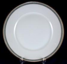 Rosenthal China Dinner Plate Gray Border w Green Flowers Excellent Light... - $7.99