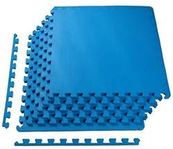 BalanceFrom Puzzle Exercise Mat with EVA Foam Interlocking Tiles, Blue - $495,82 MXN