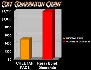 Cheetah Stone Polishing Pad  5 Inch Step 1 Aggressive Grit