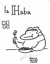 Spanish Apes: La Haba. Original Signed Cartoon by Walter Moore - $9.42