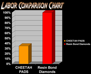 Cheetah Stone Polishing Pad  8 Inch Step 2 - Moderate Grit