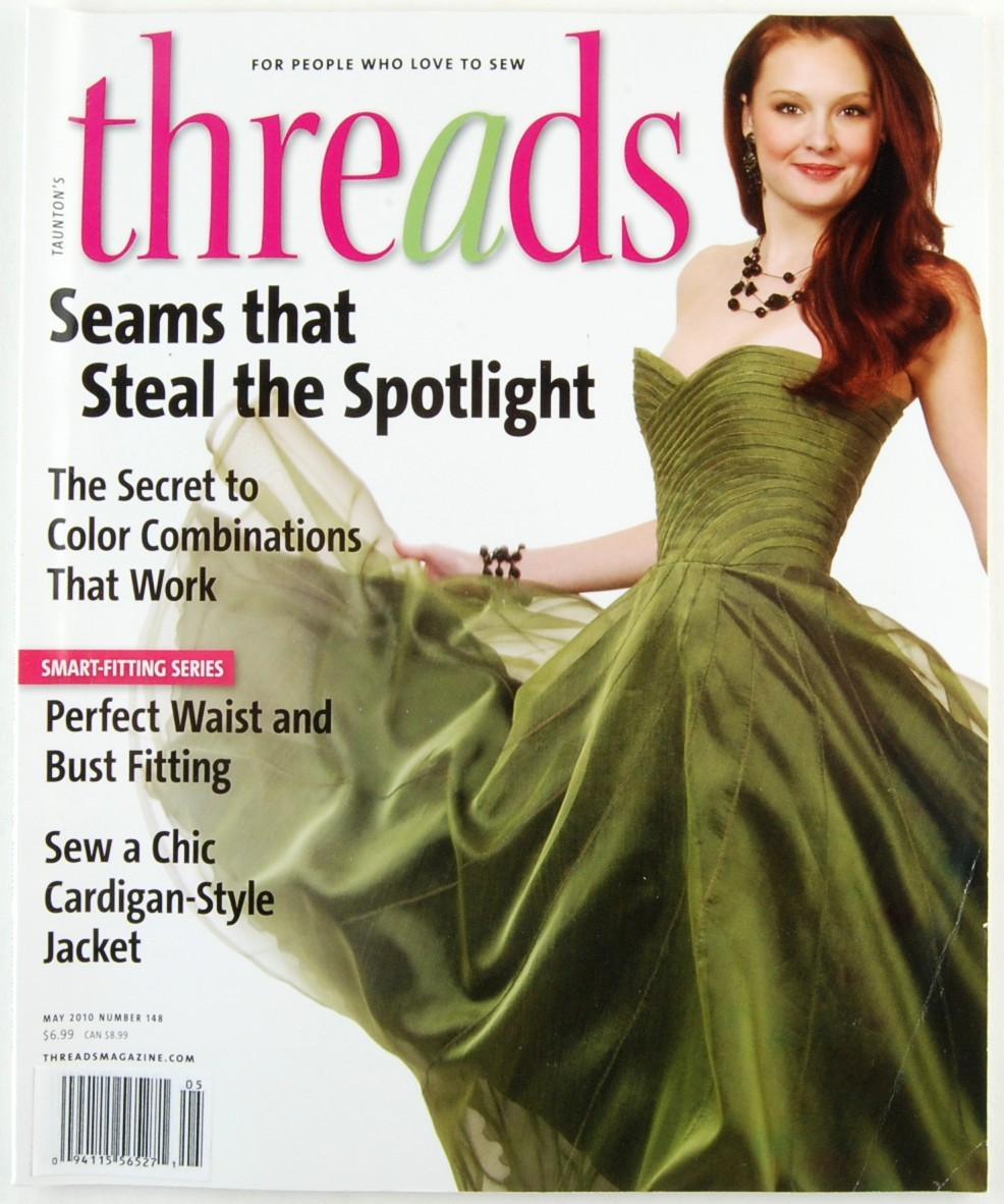 Threads May 2010 No. 148 Sewing Magazine Dresses Raincoats Clothing Techniques