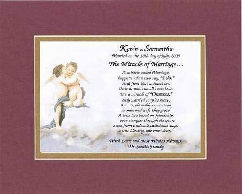 Personalized Touching and Heartfelt Poem for Wedding - The Miracle of Marriage . - $22.72
