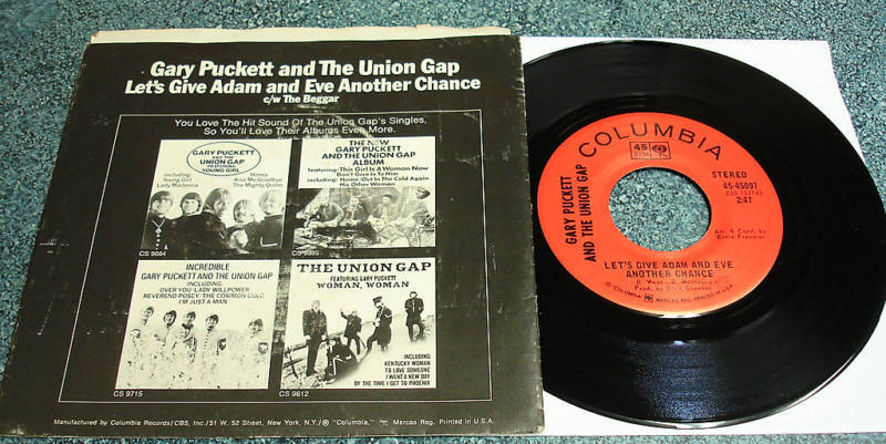 GARY PUCKETT & UNION GAP PS 45 Let's Give Adam And Eve