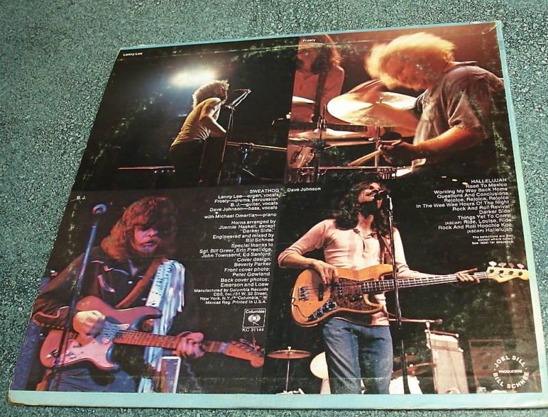 SWEATHOG 1972 Columbia LP HALLELUJAH