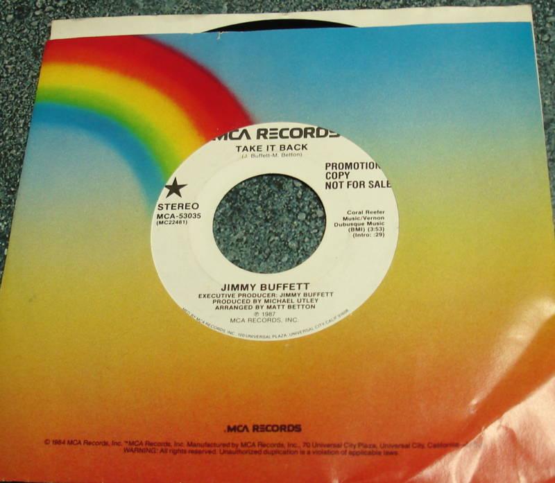 JIMMY BUFFETT 1987 MCA Promo 45 TAKE IT BACK