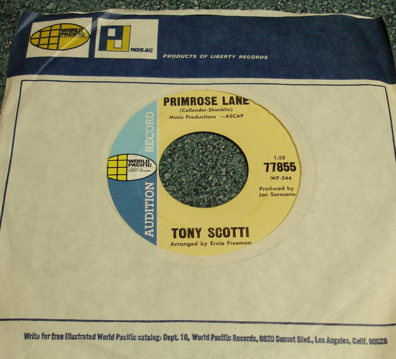 TONY SCOTTI World Pacific 45 PRIMROSE LANE/AFTER DARK