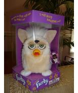 Original 1999 FURBY Curly Lamb Furby Cream Beige Green Eyes NRFB NEW IN BOX - $59.99