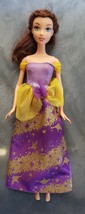 Beauty and the Beast Belle Mattel 1999 Disney Purple Yellow Sparkle Dres... - $19.79
