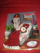 "Barbie ""Cozy Evenings"" Crochet Pattern Leaflet 5 Items Annie's Attic 1996 - $3.99"