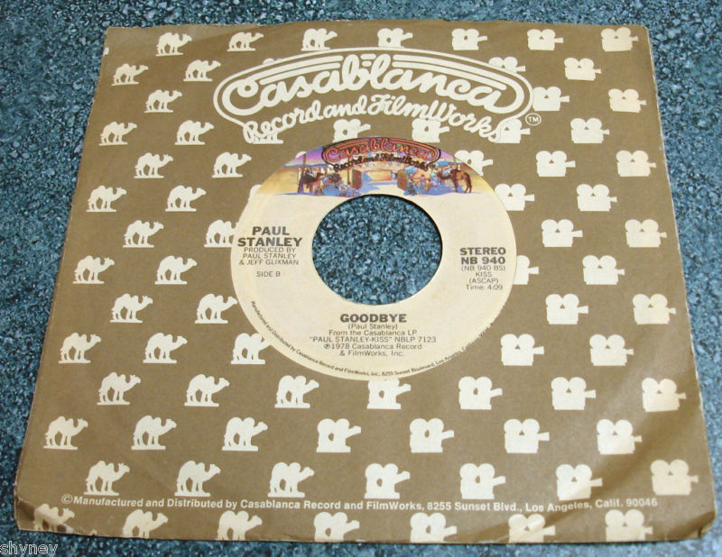 PAUL STANLEY 1978 Casablanca 45 HOLD ME TOUCH ME / GOODBYE Kiss