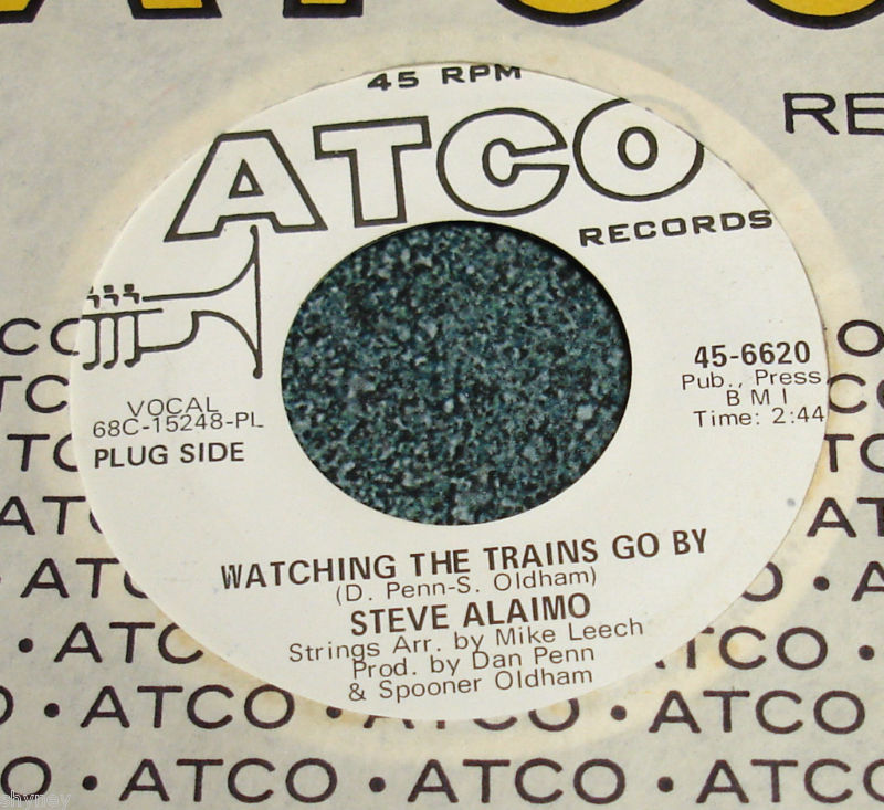 STEVE ALAIMO Promo 45 Watching The Trains Go By/Thank You For The Sunshine Days
