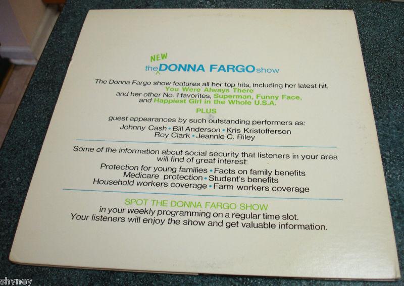 SOCIAL SECURITY Presents DONNA FARGO 2 LP Set/Ad Spots